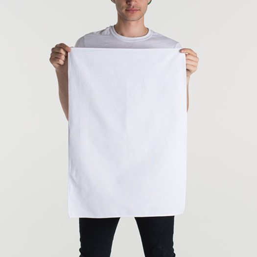 Blank Towel: Blank Tea Towel White